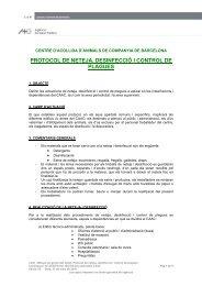 Manual de gestió del CAAC, 08. Protocol de neteja i desinfecció.