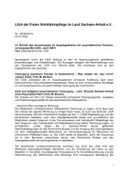 14. Bericht des Ausschusses für Angelegenheiten der psychiatrischen
