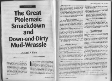 The Great Ptolemaic Smackdown and