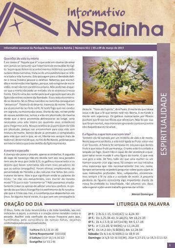 Informativo 611.pdf - PARóQUIA NOSSA SENHORA RAINHA