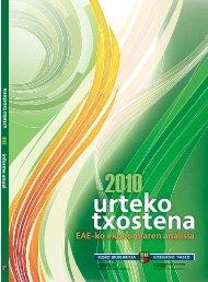 2010 txostena urteko - Ekonomia eta Ogasun Saila - Euskadi.net