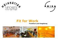 Fit for Work - Mainhattan Sports