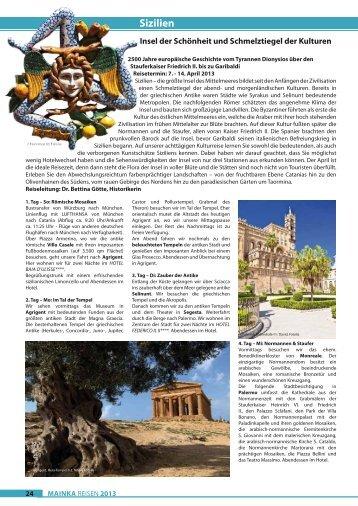 Sizilien - Mainka-Reisen Startseite
