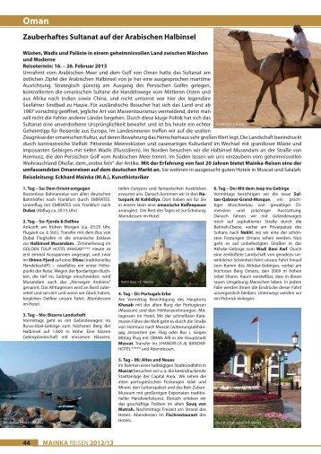 Katalogseite zum Ausdrucken - Mainka-Reisen Startseite