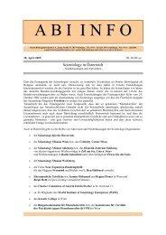 Scientology in Österreich, Niederlassungen, Aktivitäten