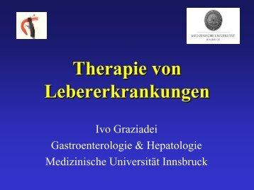 Aktuelle Behandlungen von Lebererkrankungen - Gastroenterologie ...