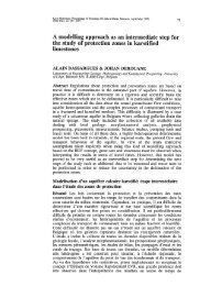 A modelling approach as an intermediate step for the study of ...