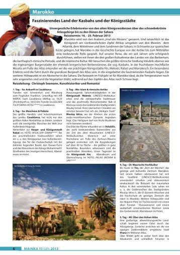 Marokko - Mainka-Reisen Startseite