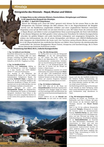 Himalaja - Mainka-Reisen Startseite