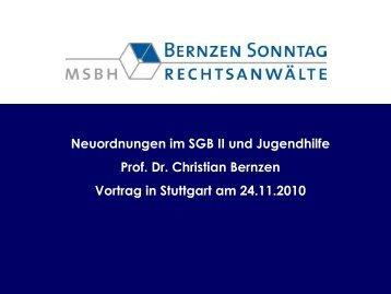 Vortrag Prof. Dr. Christian Bernzen