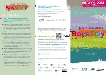 Boys'Day - Liga der freien Wohlfahrtspflege in Baden-Württemberg eV