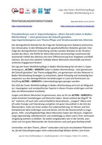 Alters-Gerecht Leben in Baden- Württemberg - Liga der freien ...