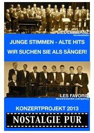Flyer LK Projekt 2013 - Liederkranz Kornwestheim eV