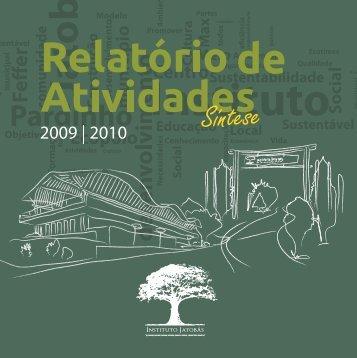 RA 2009-2010 - Síntese - Instituto Jatobás