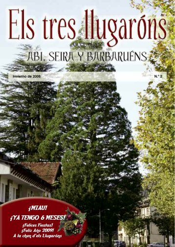 Revista ELS TRES LLUGARONS nº 2 - Ayuntamiento de Seira