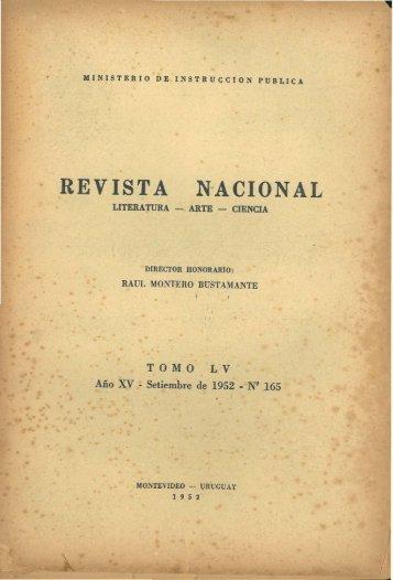 REVISTA NACIONAL - Publicaciones Periódicas del Uruguay