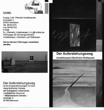 Auferstehungsweg Irmelshausen - Main-Post