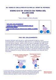 esercizio di stacco da terra del bilanciere - SporTrentino.it