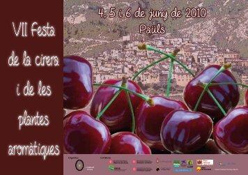Programa d ela festa de la cirera 2010