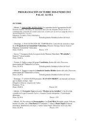 programación octubre 2010-enero 2011 palau altea