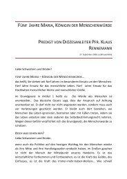 Predigt von Pfr. Klaus Rennemann - Liebfrauenhöhe