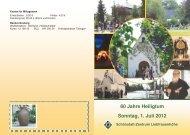 Einladung heiligtumsfest - Liebfrauenhöhe