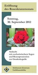 Einladung - Eröffnung des Rosenkranzmonats 2012 - Liebfrauenhöhe