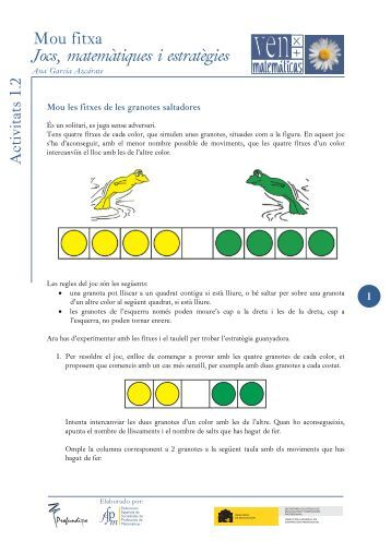 Mou fitxa - Activitat 1.2 - SUMA Revistas de matemáticas
