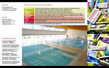 horaris d'activitats dirigides - Ajuntament de Salt