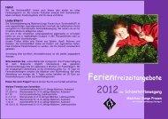 Ferienwochen 2012 - Liebfrauenhöhe