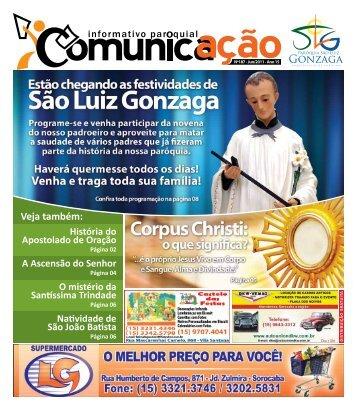 Junho - Paróquia São Luiz Gonzaga – Arquidiocese de Sorocaba ...