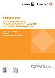 PREISLISTE - Lichtner Beton