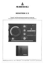 Regler Novatron II C - ABIC Brennertechnik GmbH