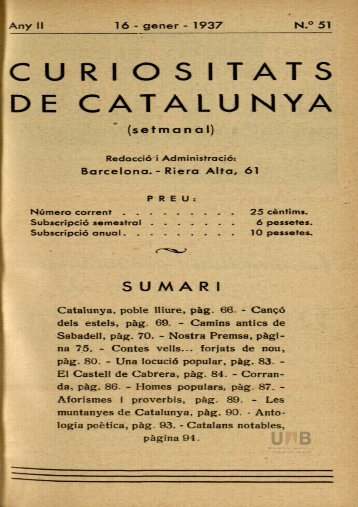 CURIOS ITATS DE CATALUNYA (setmanal) - Dipòsit Digital de ...