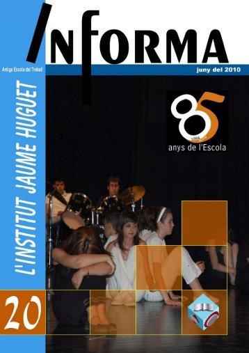 Revista Informa n. 20, juny 2010 - Institut Jaume Huguet