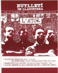 Novembre 1981 - Arxiu - LLAGOSTERA