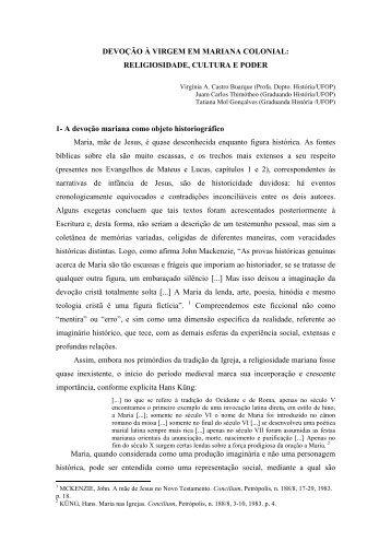 GONÇALVES, Tatiana Mol. Devoção à Virgem em Mariana