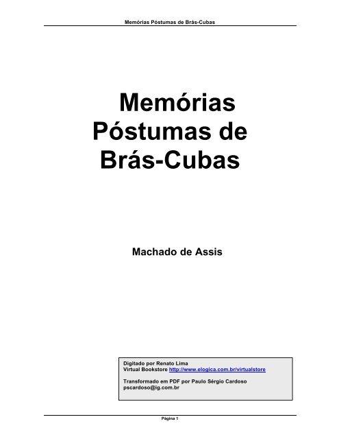 Memórias Póstumas de Brás-Cubas - Profasoninha