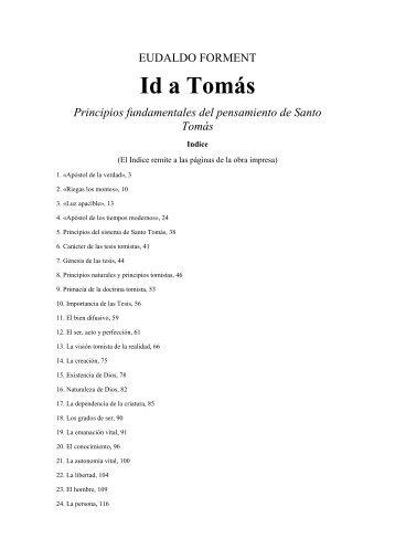 Id a Tomás Principios fundamentales del ... - UCCuyo San Luis