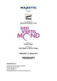 PRESSEHEFT - Majestic Filmverleih GmbH
