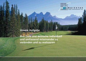 PDF ansehen - Maiestas - Asset Management AG
