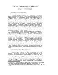 CONFISSÃO DE FÉ DE WESTMINSTER - Comunidades