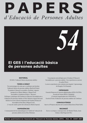 Agost 2007, Núm. 54 - El GES i l'educació bāsica de ... - AEPA