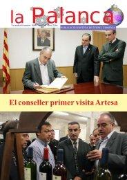El conseller primer visita Artesa - La Palanca
