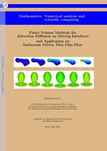 Finite Volume Methods for Advection Diffusion on Moving Interfaces ...