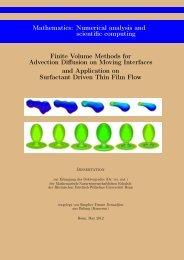 Finite Volume Methods for Advection Diffusion on ... - Universität Bonn