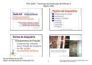 ESQUADRIAS: partes da esquadria e características de instalação