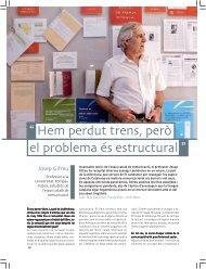 """"""" Hem perdut trens però el problema és estructural """" - Josep Gifreu i ..."""