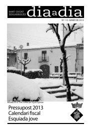 Número 115 - Gener 2013 - Ajuntament de Sant Cugat Sesgarrigues