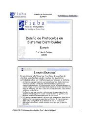 Diseño de Protocolos en Sistemas Distribuidos